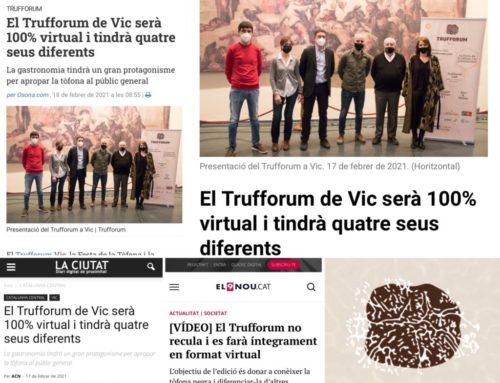 Las actividades de Trufforum 2021 en Vic, Cataluña, en la prensa