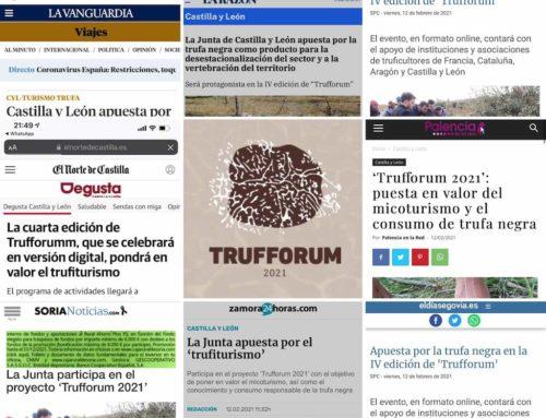 Trufforum 2021 en diferentes medios de prensa