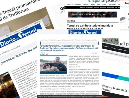 Los medios de prensa de Teruel anuncian la semana de Trufforum en la provincia